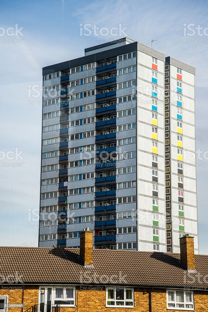 London Housing estate stock photo