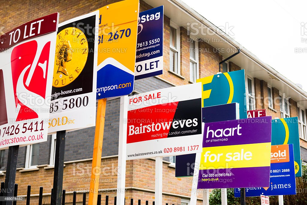 London Housing Market stock photo