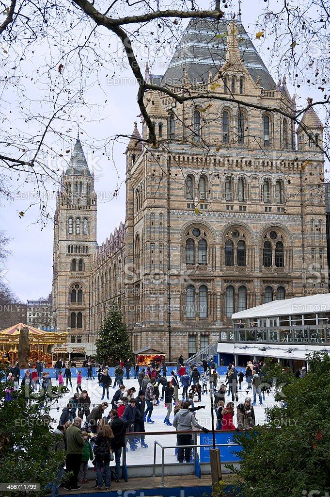 London ice-skating stock photo