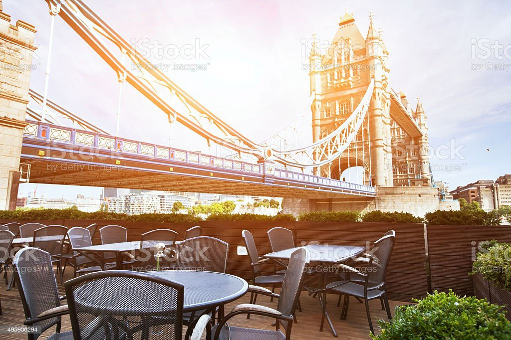 London in sunny day stock photo