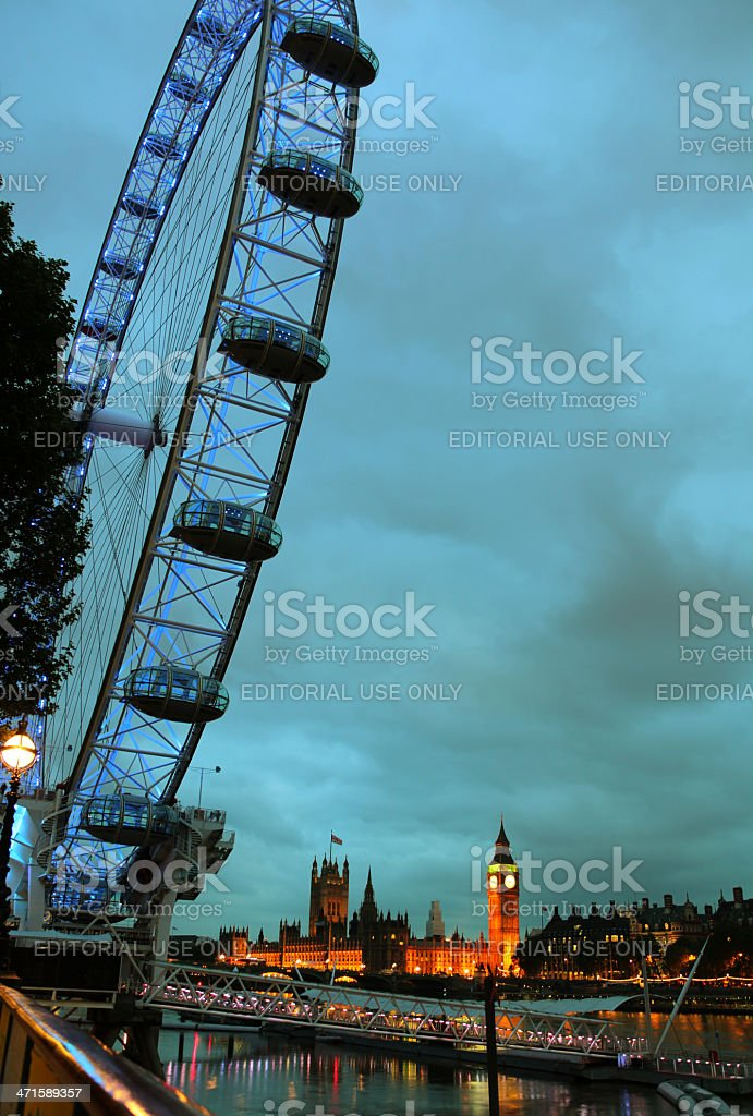 London In The Evening royalty-free stock photo