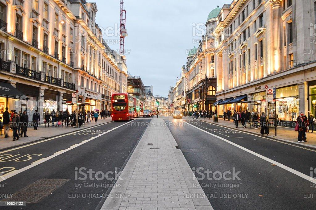 London in the evening, Regent Street stock photo