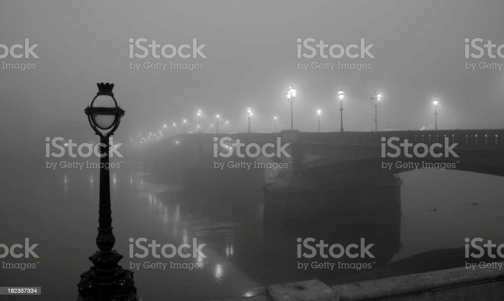 London In The Fog stock photo