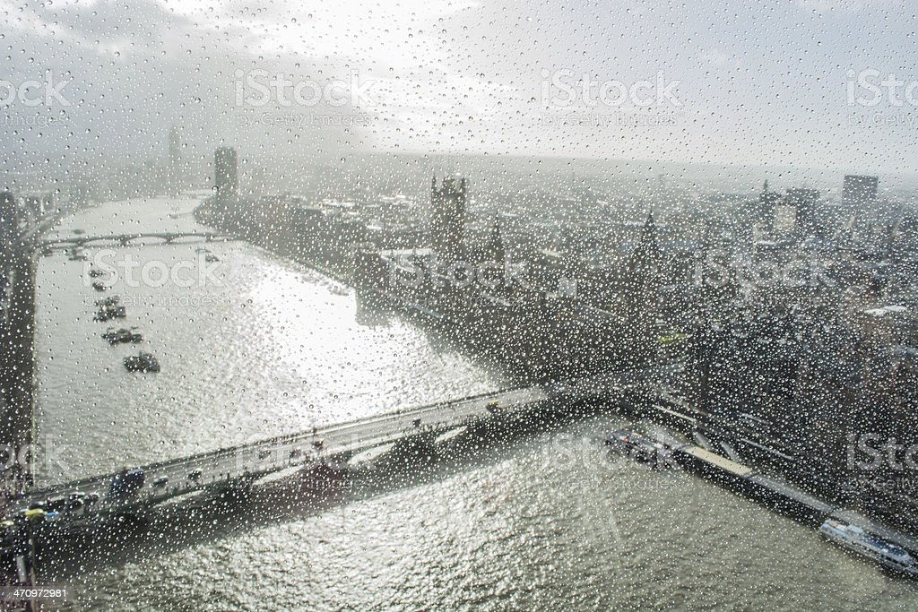 London in the rain royalty-free stock photo