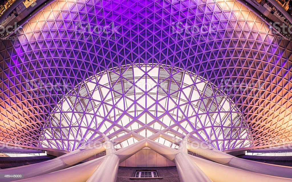 London Kings Cross Ceiling Architecture stock photo