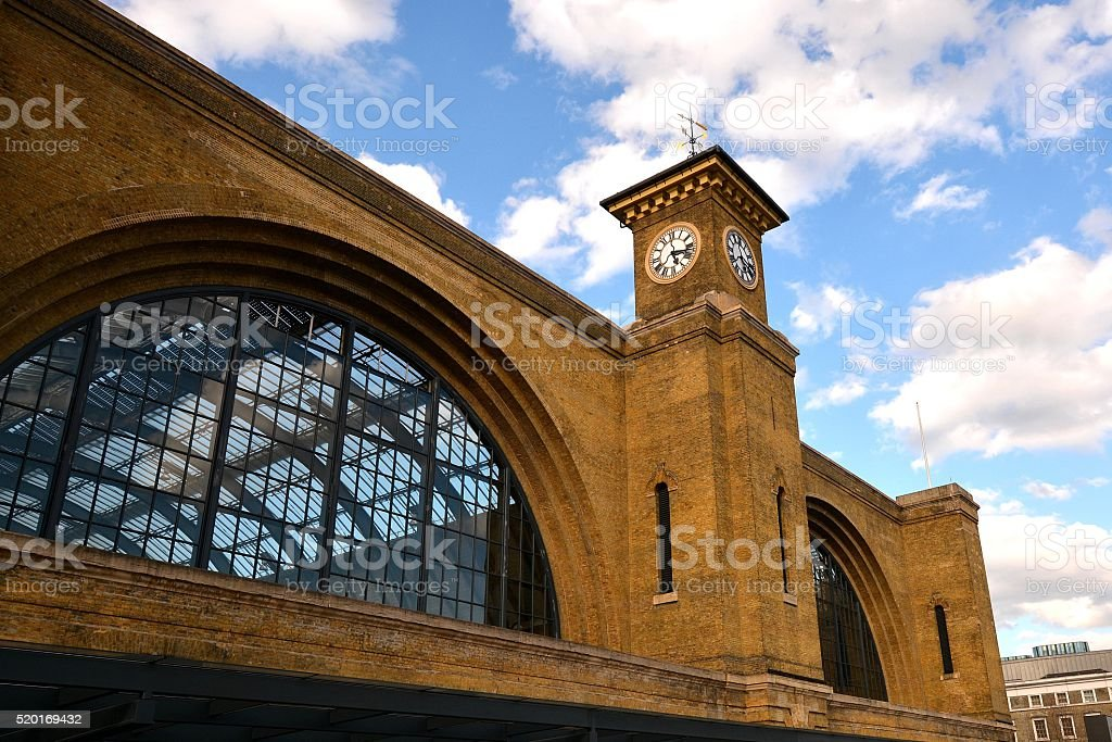 London Kings Cross Station stock photo