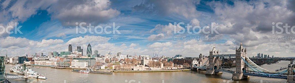 London landmark panorama big sky high royalty-free stock photo