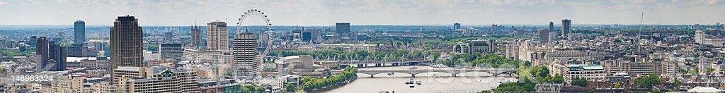 London landmark panorama stock photo