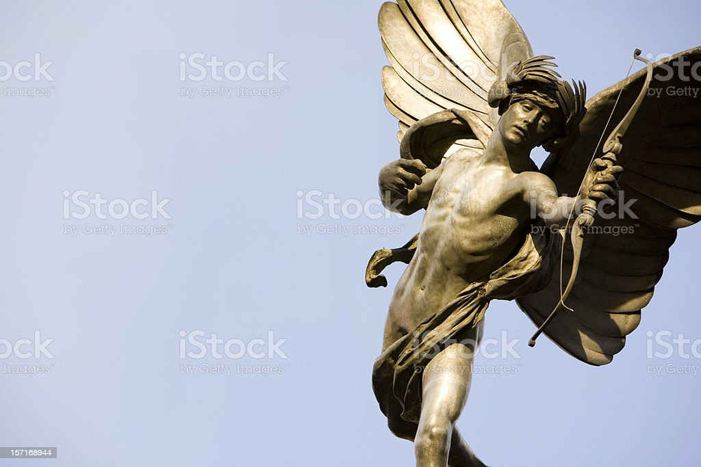 London landmark: Statue of Eros, Piccadilly Circus royalty-free stock photo