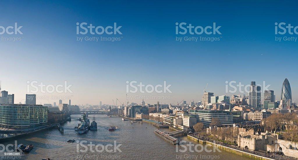 London landmarks Thames royalty-free stock photo
