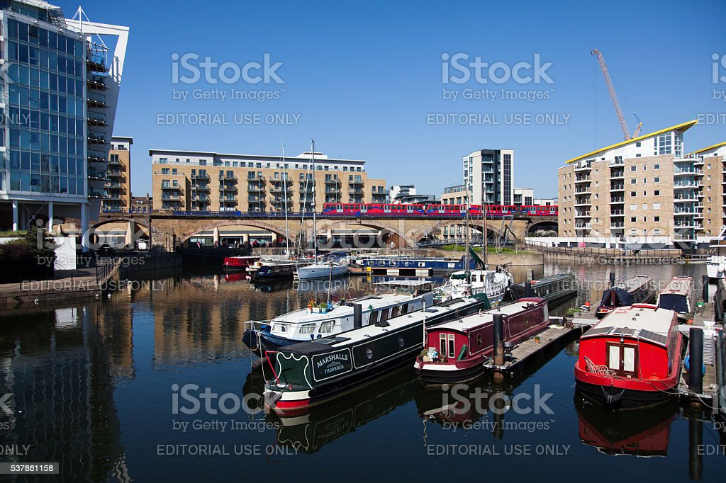 London Limehouse Basin stock photo
