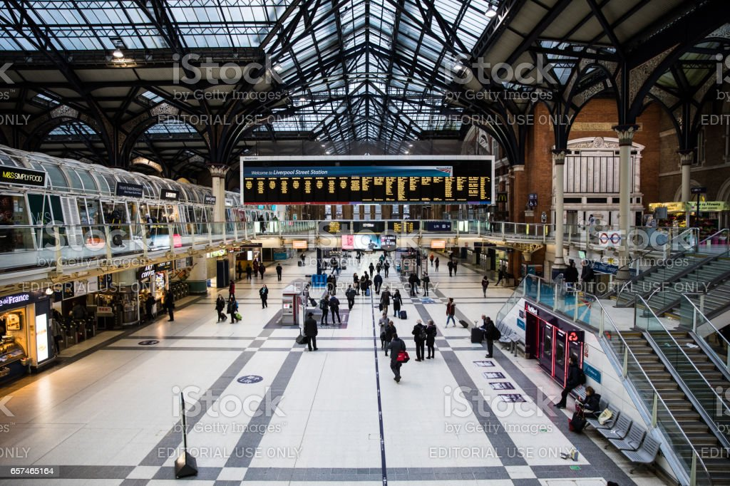 London Liverpool Street Station stock photo