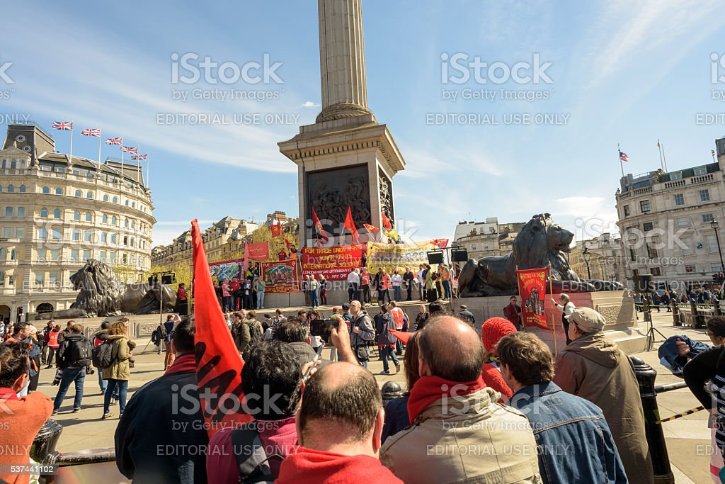 London May Day International Workers Rally stock photo
