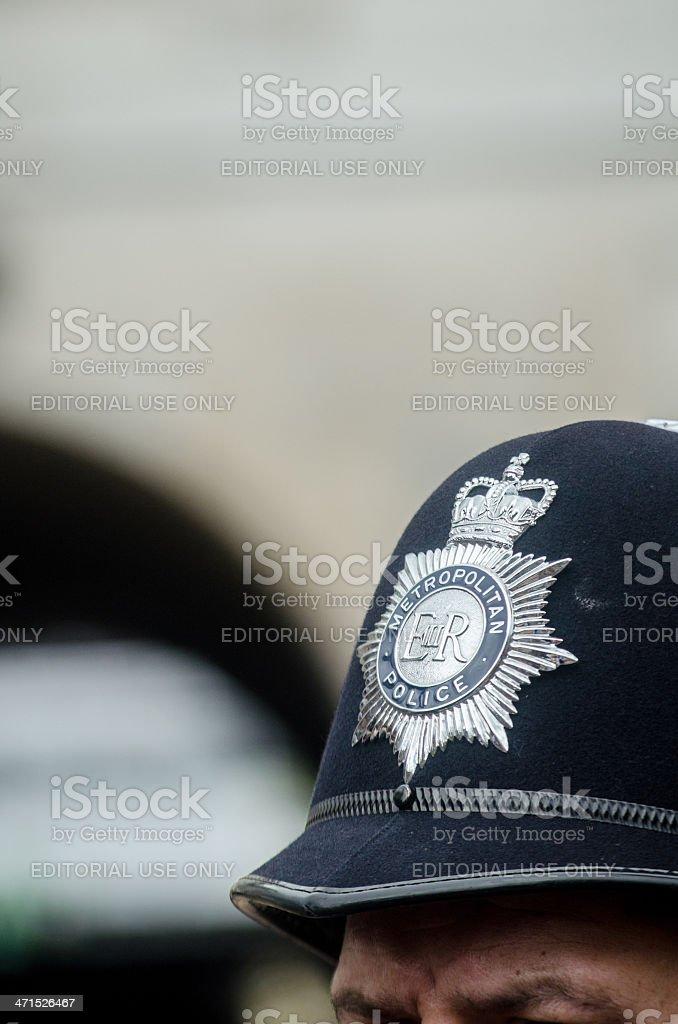 London Metropolitan Police helmet stock photo