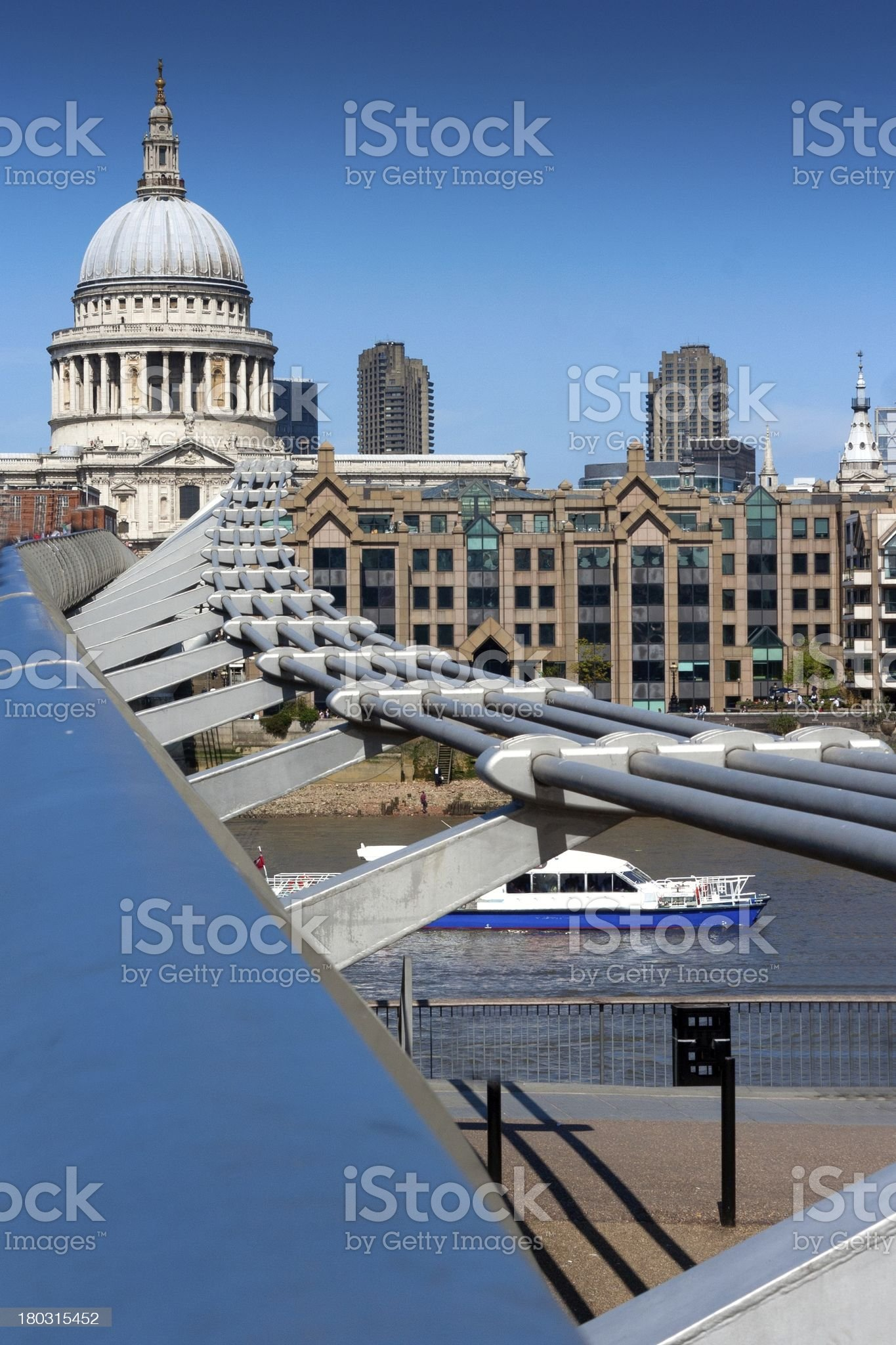 London, millenium bridge royalty-free stock photo