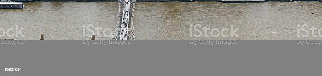 London Millenium Bridge Thames royalty-free stock photo