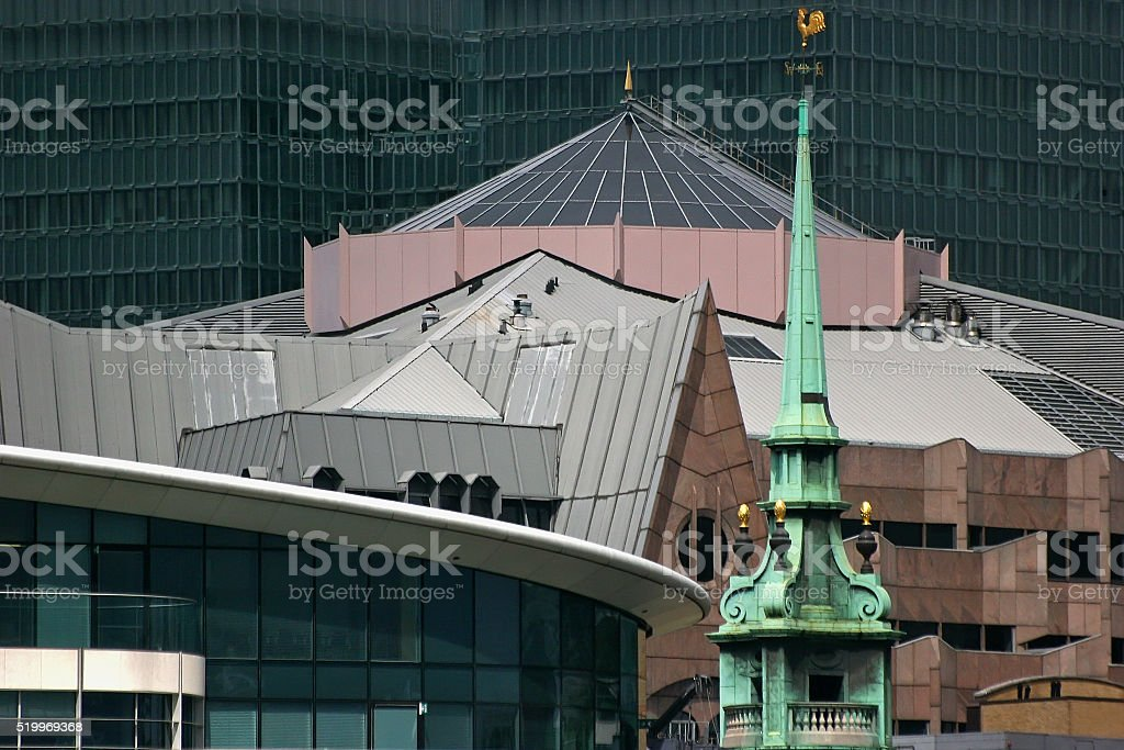 London - modern and old buildings stock photo