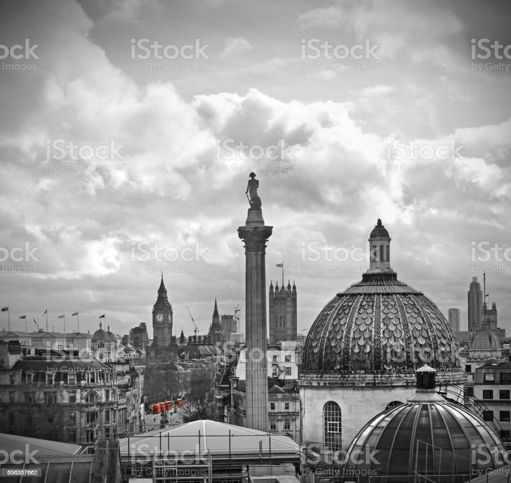 London monochrome stock photo