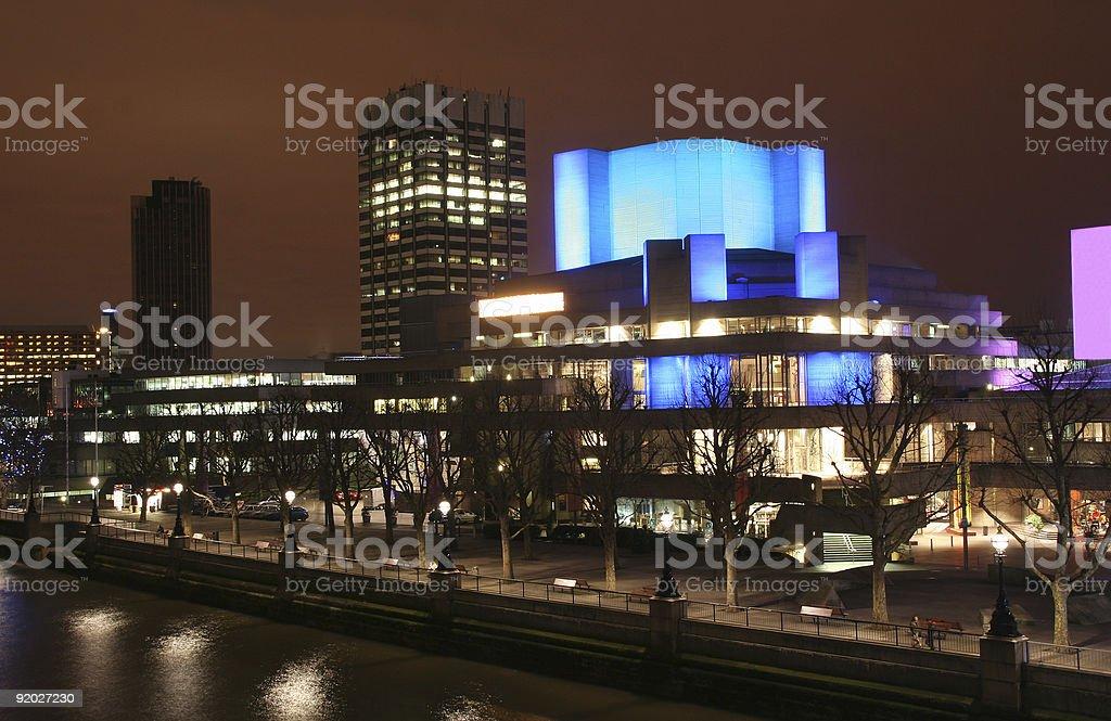 London National Theatre stock photo