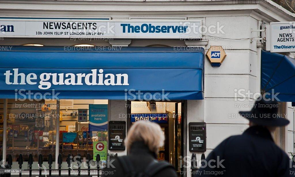 London - Newsagents stock photo