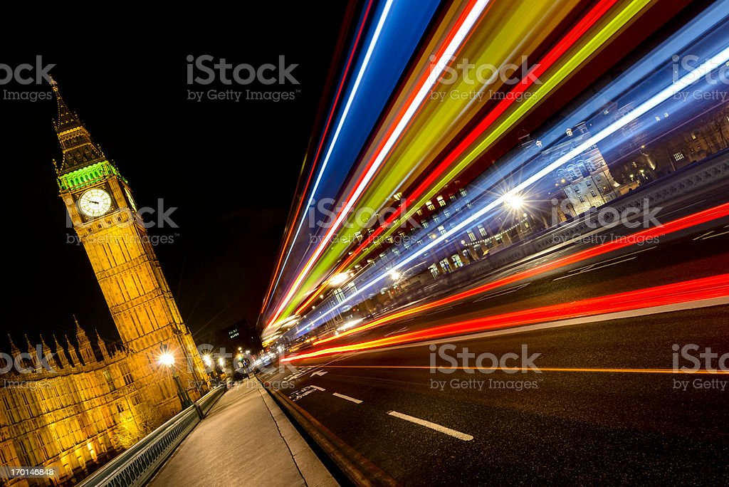 London night cityscape and lights royalty-free stock photo