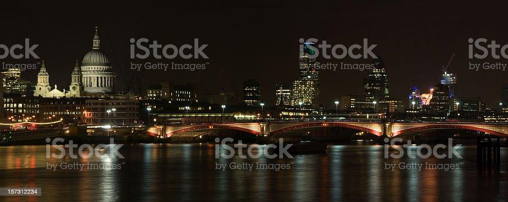 London Night skyline royalty-free stock photo