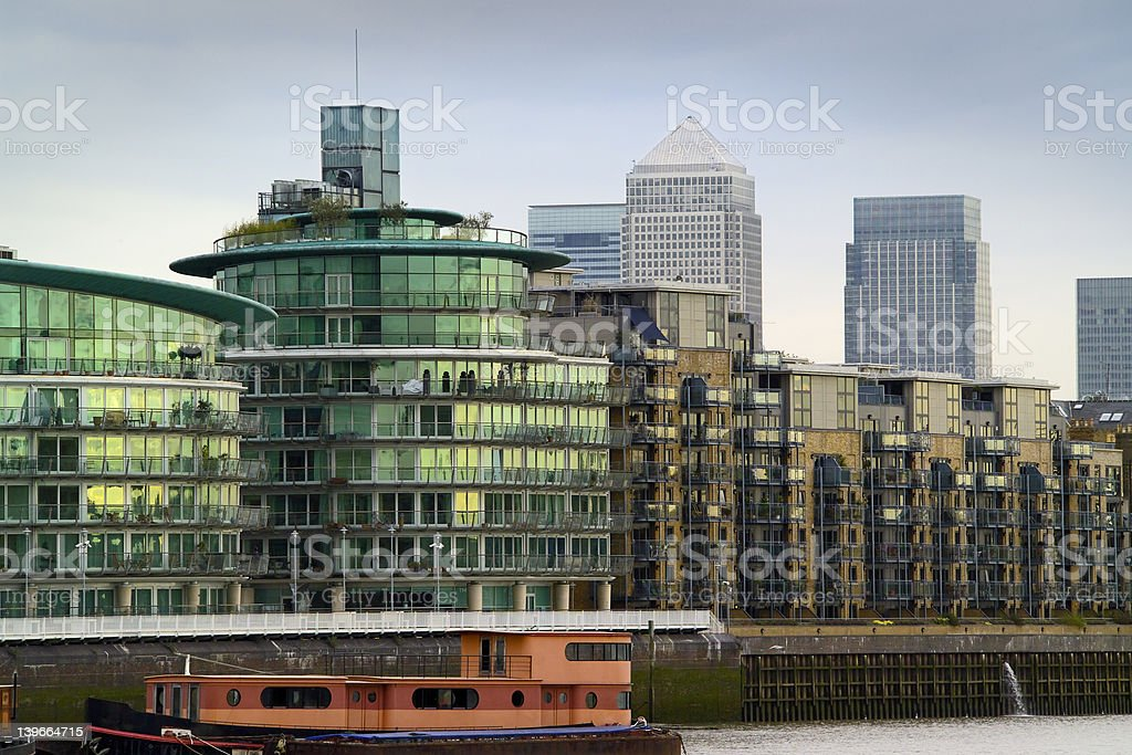 London Offices and apartment blocks royalty-free stock photo