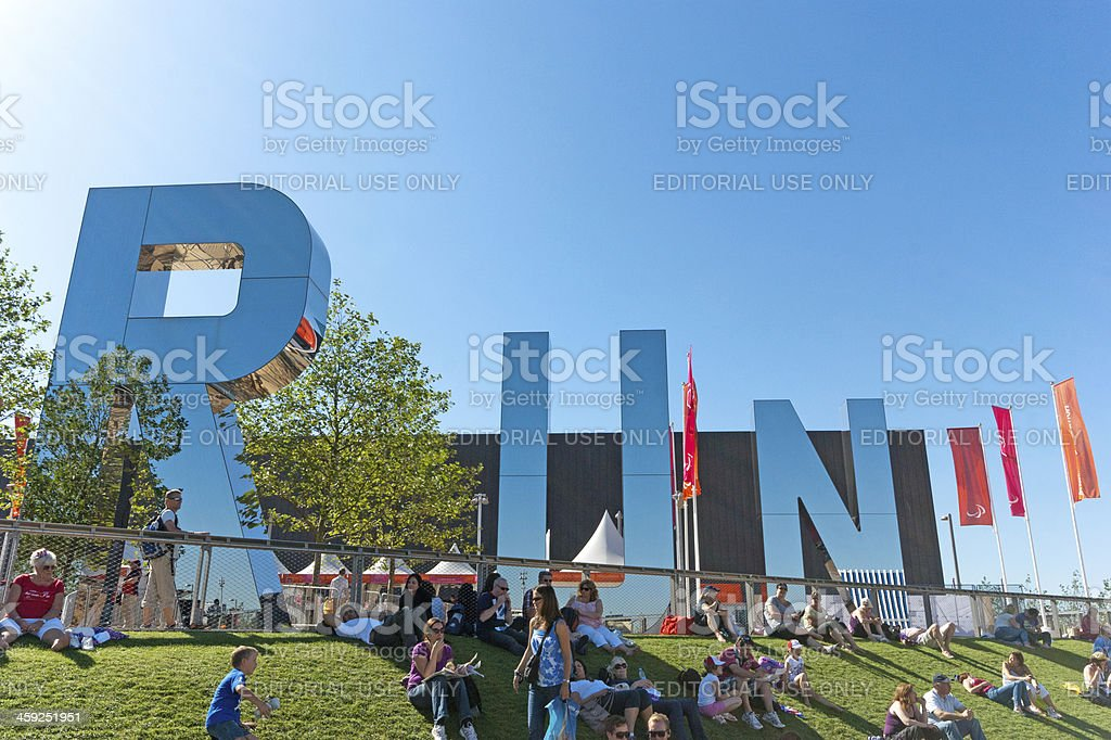 London Olympic Park royalty-free stock photo