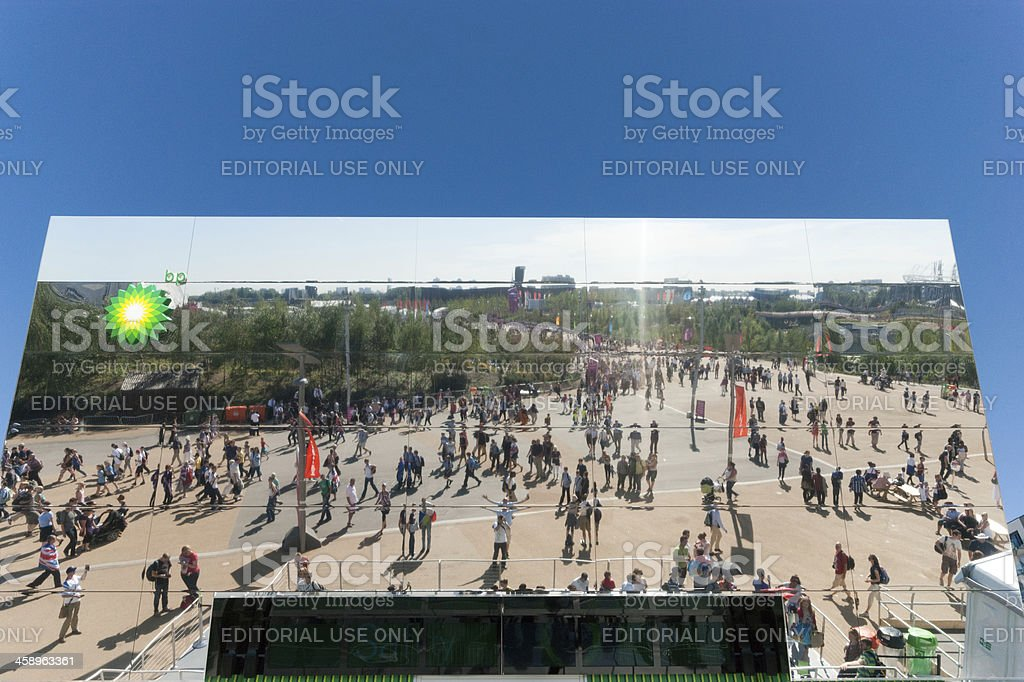 London Olympics BP Building Modern Architecture royalty-free stock photo