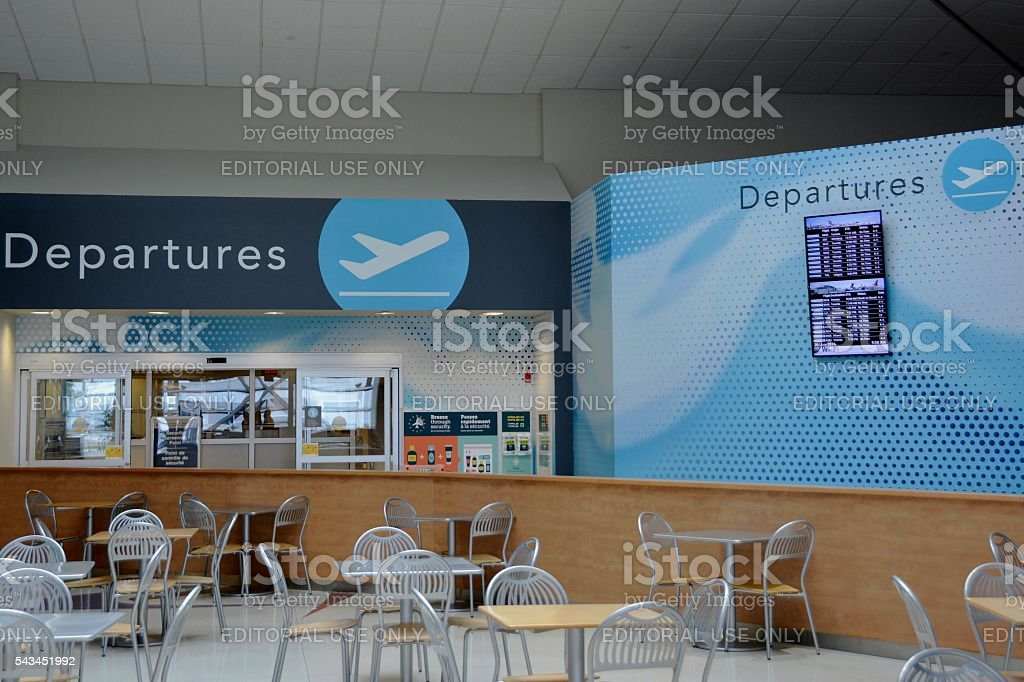 London ON airport Departures stock photo