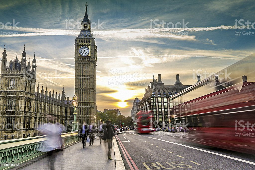 London on the move stock photo