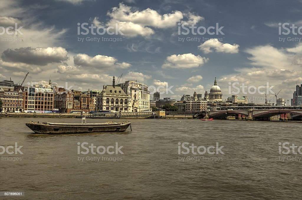 London on the Thames stock photo