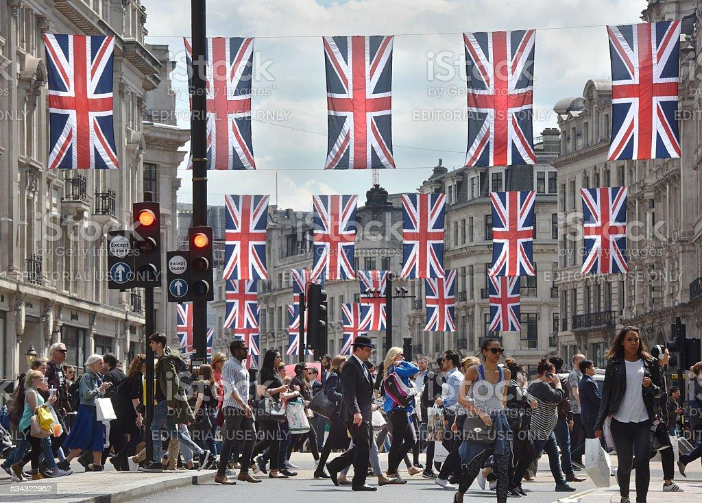 London Oxford Circus stock photo