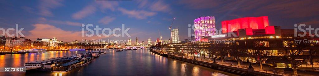 London panorama after sunset stock photo