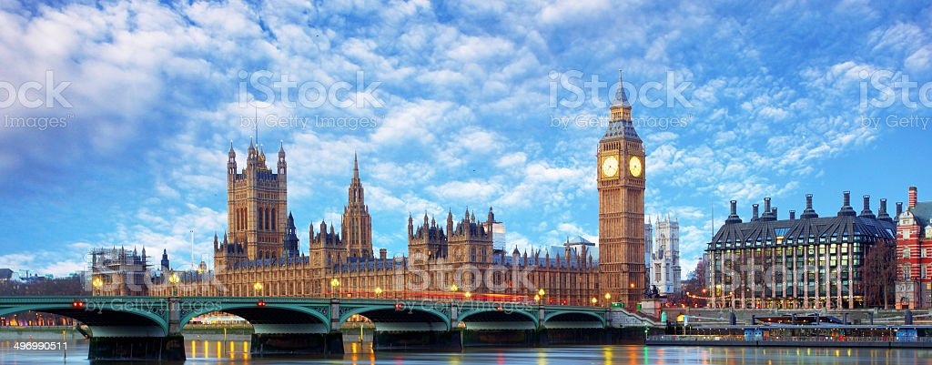 London panorama - Big ben, UK stock photo