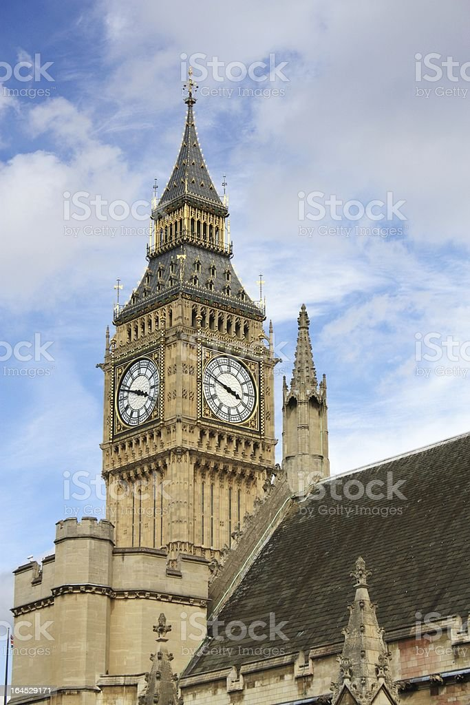 London Parliament and Big Ben. royalty-free stock photo