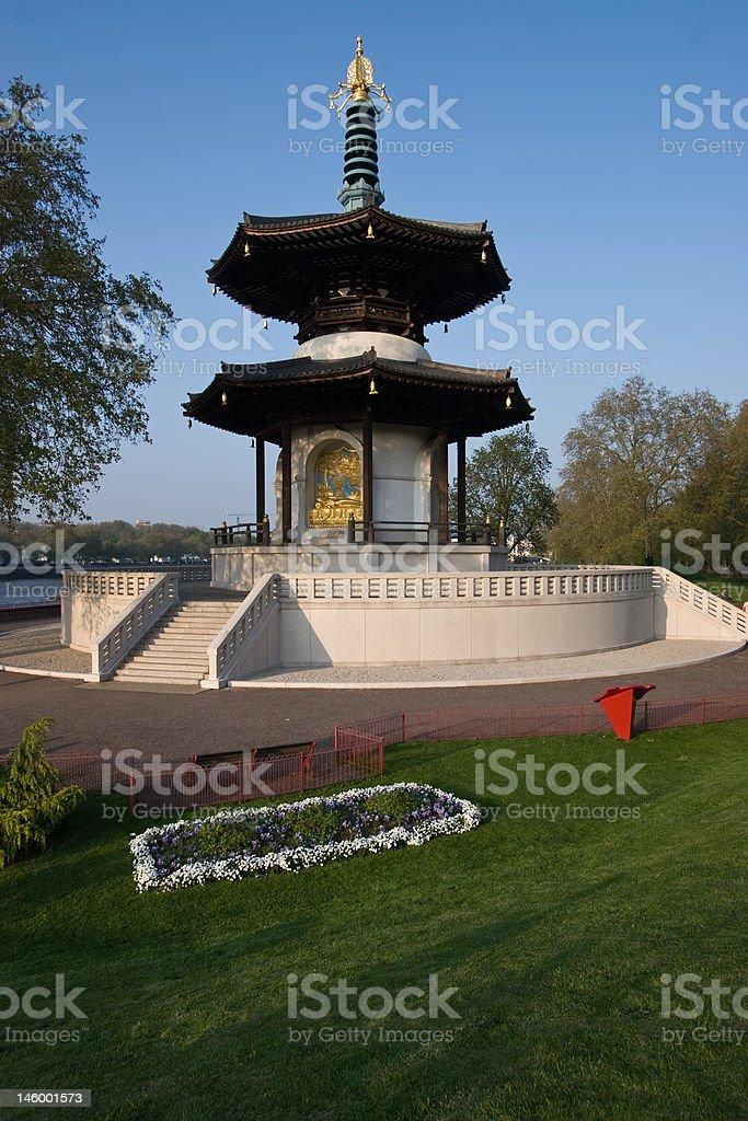 London peace Pagoda stock photo