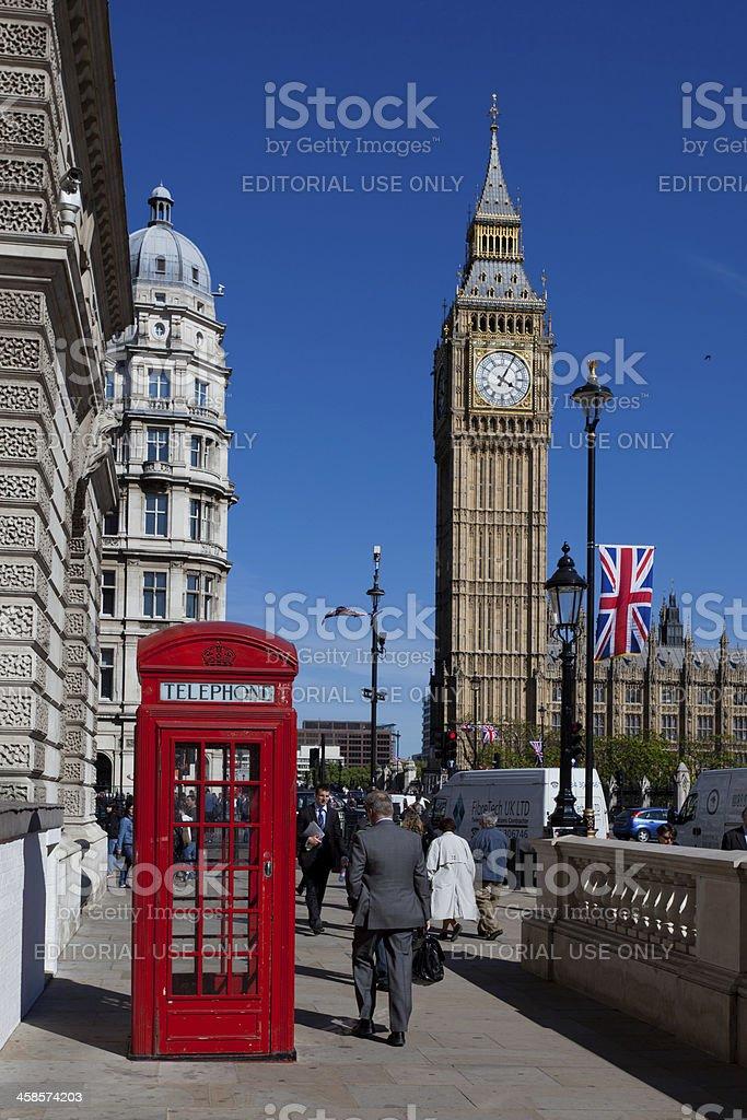 London Phonebox and Big Ben royalty-free stock photo