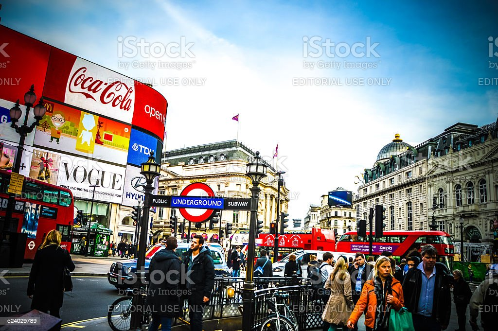 London Picadilly during daytime stock photo