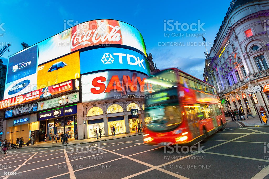 London, Piccadilly Circus stock photo