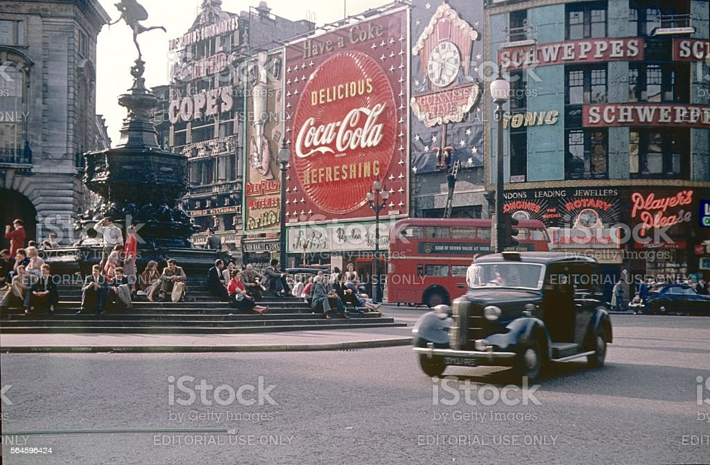 London, Piccadilly Circus VI, 1968 stock photo