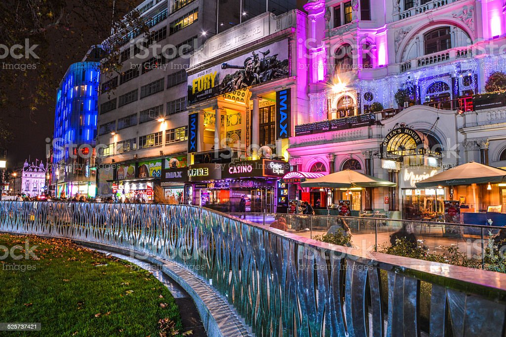 London Piccadilly during night stock photo