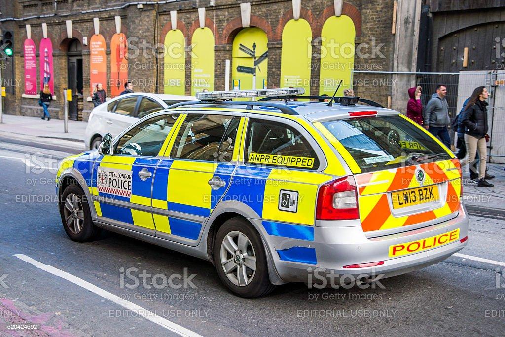London police car stock photo