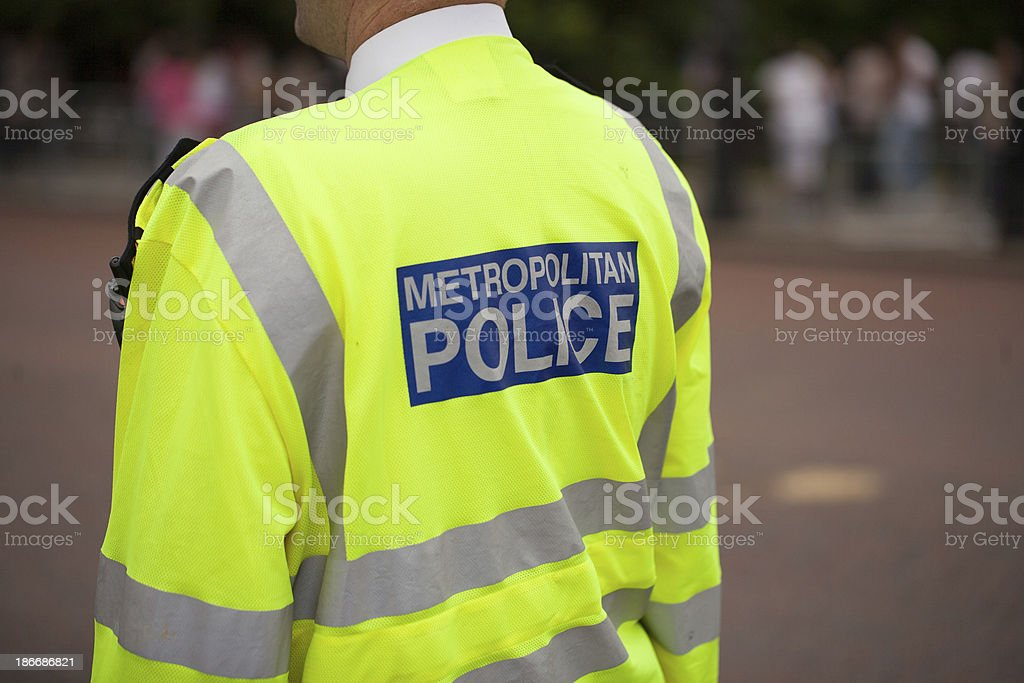 London Police officer stock photo
