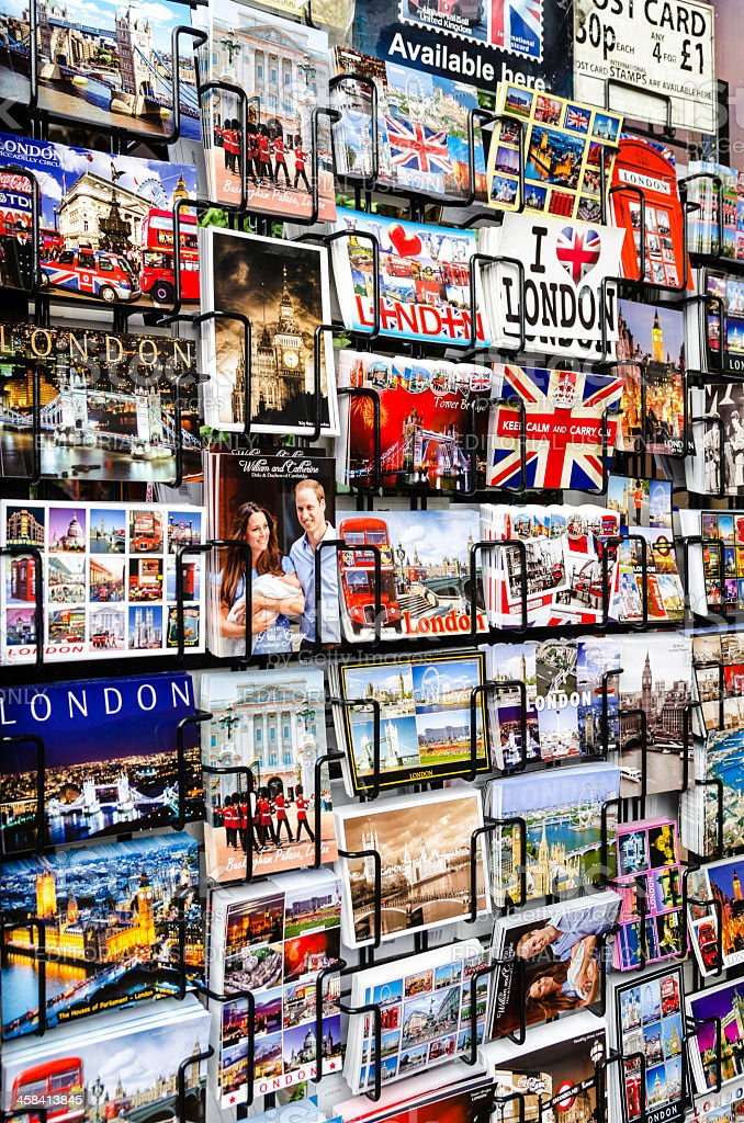 London postcards royalty-free stock photo