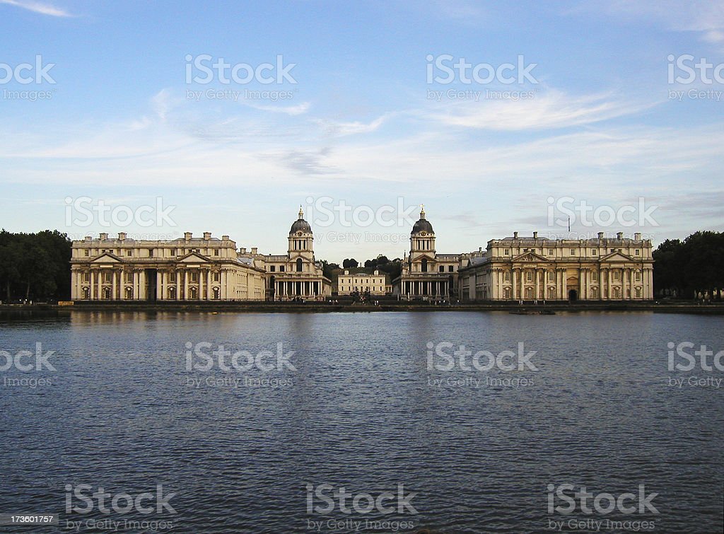 London - Prime Meridian from the river stock photo