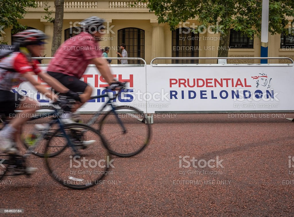 London Prudential bicycle ride stock photo