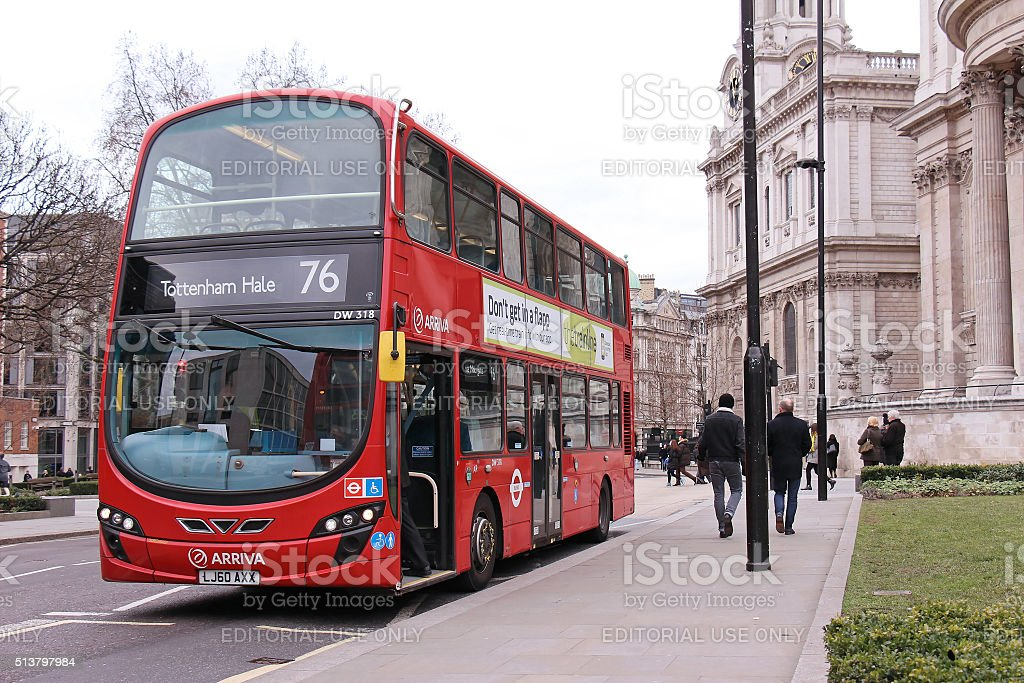 London public bus stock photo