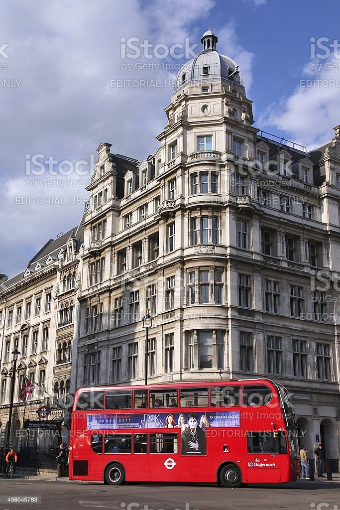 London public transportation stock photo