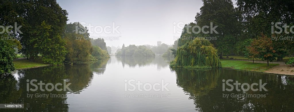 London quiet dawn in St James Park royalty-free stock photo
